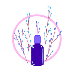 Eco natural cosmetic design-02 vector