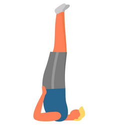 Fitness and sport man doing candlestick exercise vector