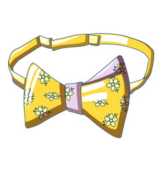 Flower bow tie icon cartoon style vector