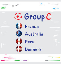 football cup russia group c vector image