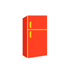 fridge refrigerator icon in flat style frig vector image