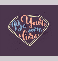 girl power - quote lettering calligraphy vector image