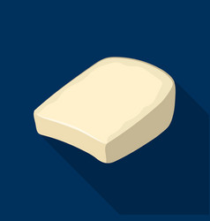 Gruyeredifferent kinds of cheese single icon in vector