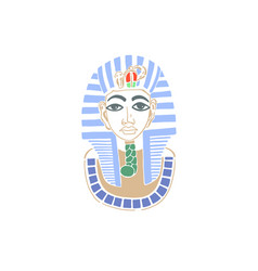 hand drawing icon mask egyptian pharaoh vector image