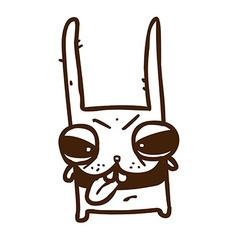 Hand Drawn Evil Bunny vector image