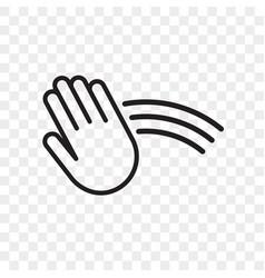 Hand sensor icon hand towel and soap dispenser vector