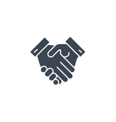handshake related glyph icon vector image