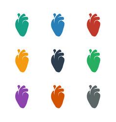 Heart organ icon white background vector