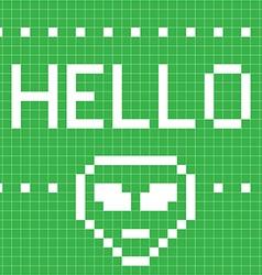 Hello pattern vector