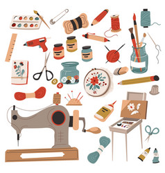 hobbies and crafts handmade and do it yourself vector image