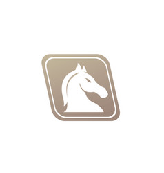 horse head in parallelogram shape for chess vector image