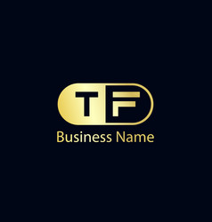 Initial letter tf logo template design vector