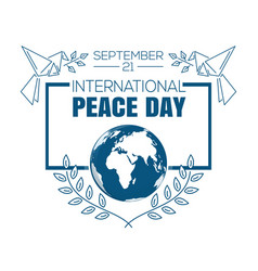 International peace day logo design vector