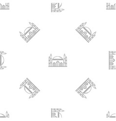 islam mosque icon outline style vector image