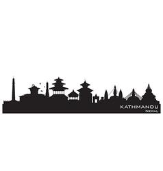 Kathmandu Nepal skyline Detailed silhouette vector