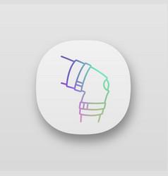 Knee brace app icon vector