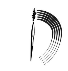 mascara black background vector image