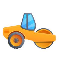 Modern road roller icon cartoon style vector