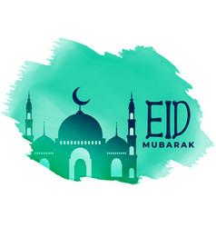 Muslim eid festival lovely greeting design vector