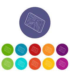 navigator icons set color vector image