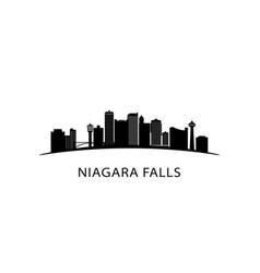 Niagara falls city skyline black cityscape vector