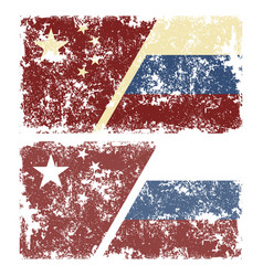old scratched flags vector image