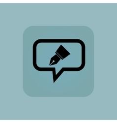 Pale blue pen nib message vector image