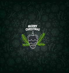 Pattern with christmas logo merry christmas vector
