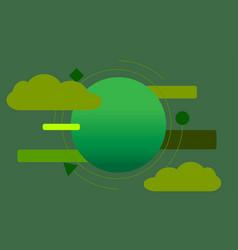 Plain green circle vector