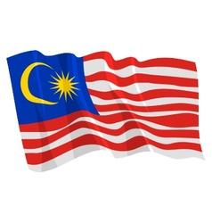 Political waving flag malaysia vector