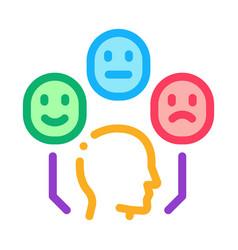 Positive neutral negative human feedback icon vector
