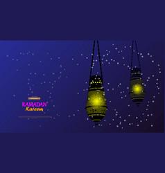 ramadan kareem concept banner of islamic theme vector image