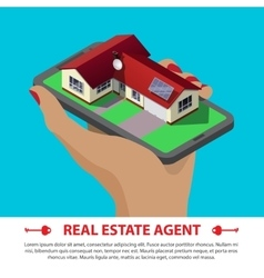 real estate isometric concept vector image