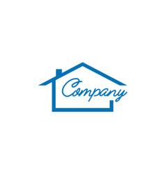 real estate logo design house logo design vector image