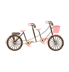 retro bicycle with basket vector image