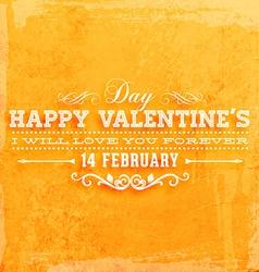Retro Valentines Card vector