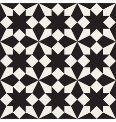 Seamless Black and White Geometric Square vector image