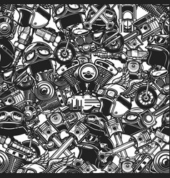 Seamless pattern with auto repair design elements vector