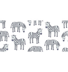 seamless pattern with zebras vector image