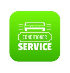 service conditioner icon green vector image