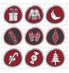 set of tags for christmas new year vector image