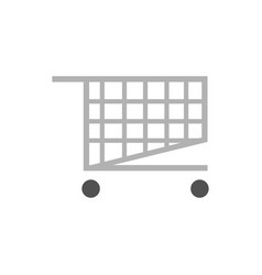 shopping cart simple graphic vector image