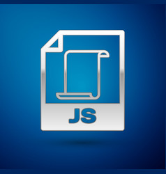 Silver js file document icon download js button vector