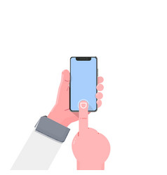 smartphone hand modern flat with vector image