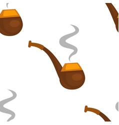 smoking pipe tobacco seamless pattern smoke writer vector image
