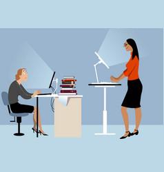 Standing desk advantages vector