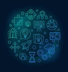 startup blue start-up symbol vector image