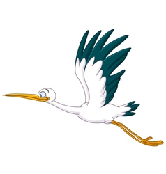 stork flying vector image