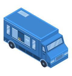 street food truck icon isometric style vector image