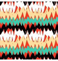 Striped hand drawn pattern with zigzag lines vector image
